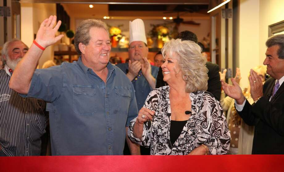 Paula Deen and her brother Bubba Hiers attend Paula Deen's Kitchen grand opening at Chicago Harrah's Joliet Casino & Hotel on April 5, 2012 in Chicago, Illinois. (Photo by Michael Roman/WireImage) Photo: Michael Roman/WireImage