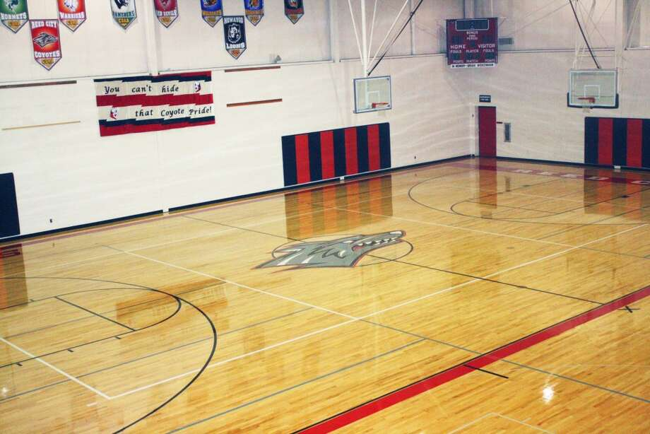 NEW SURface: Reed City High School has a new gym floor, which was recently finished. (Herald Review/John Raffel)