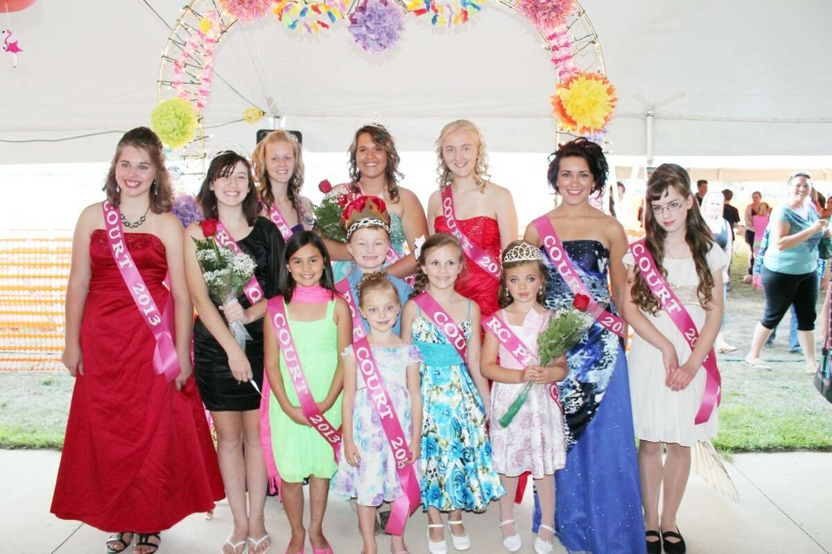 Pagent: Members of the 2013 Reed City Court include Queen Taylor Holmes, Jr. Queen Cassidy Hartley, PrincessKylynn Thompson and PrinceEthan Powell. (Herald Review photo/Shannon Hartley)