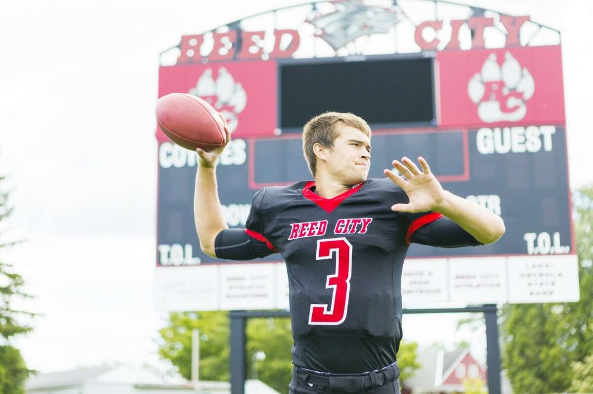 Chad Samuels prepares for his third season as Reed City quarterback. (Herald Review/Justin McKee)
