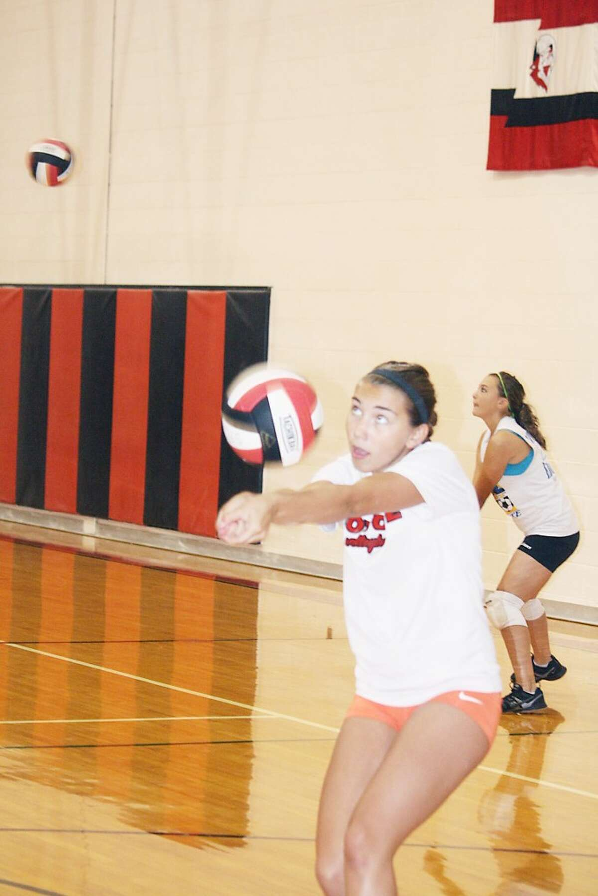 volleyball: Jacolyn Mullins works on her game during a Reed City volleyball practice. (File photo)