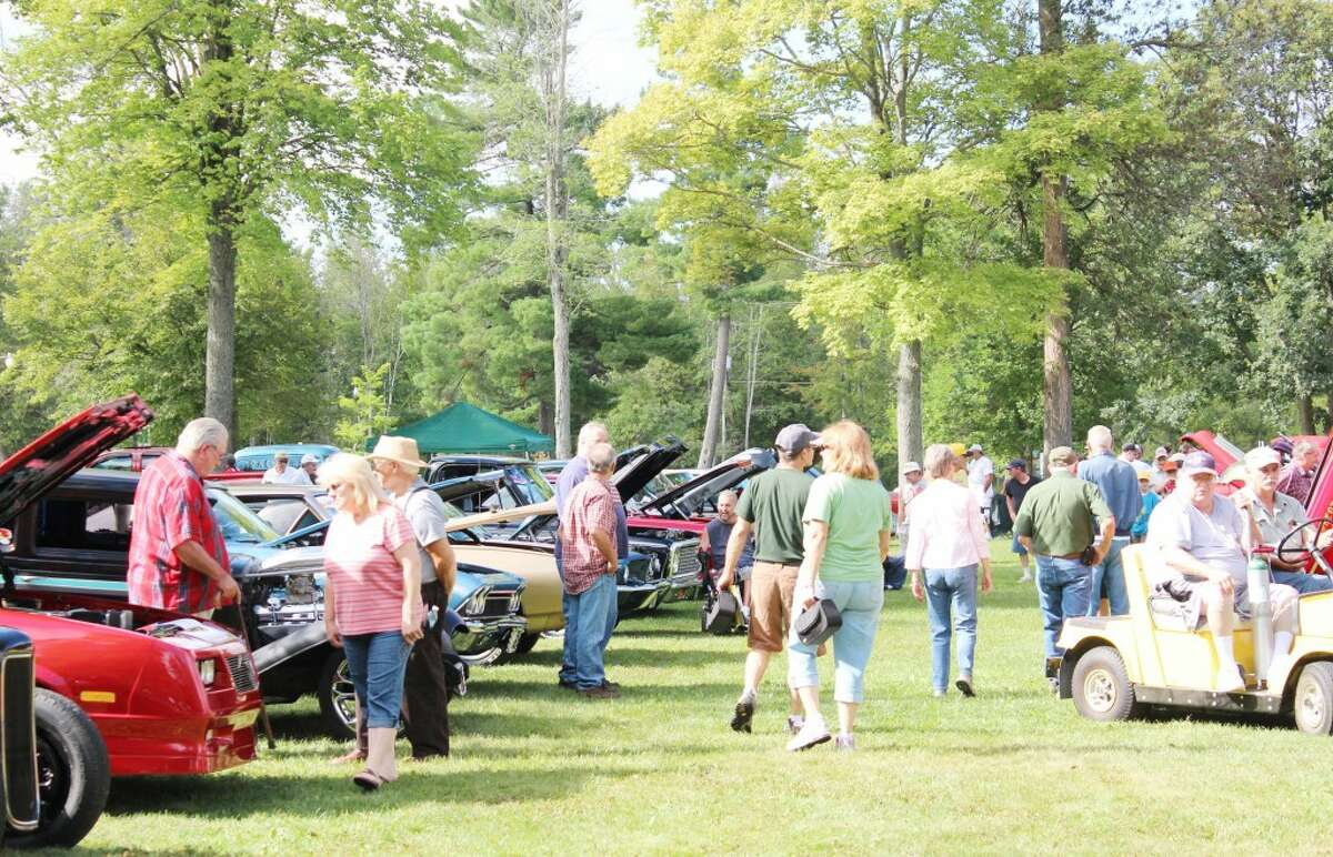 Hot rod: Hundreds of people attended the 20th annual Evart Car Show on Aug. 31 in Evart's East Riverside Park. More than 150 cars, including some dating back to as early as the 1920s, were available for viewing. (Herald Review photos/Karin Armbruster)v