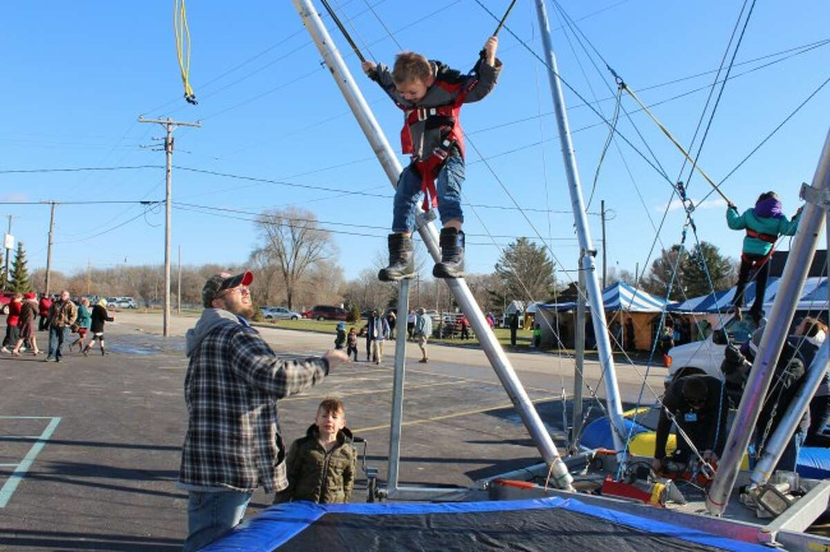 JUMP HIGH: Kids can enjoy the Euro Bungee at this year's Christmas Carnival, which is part of the month-long Christmas in a Small Town event in Evart.