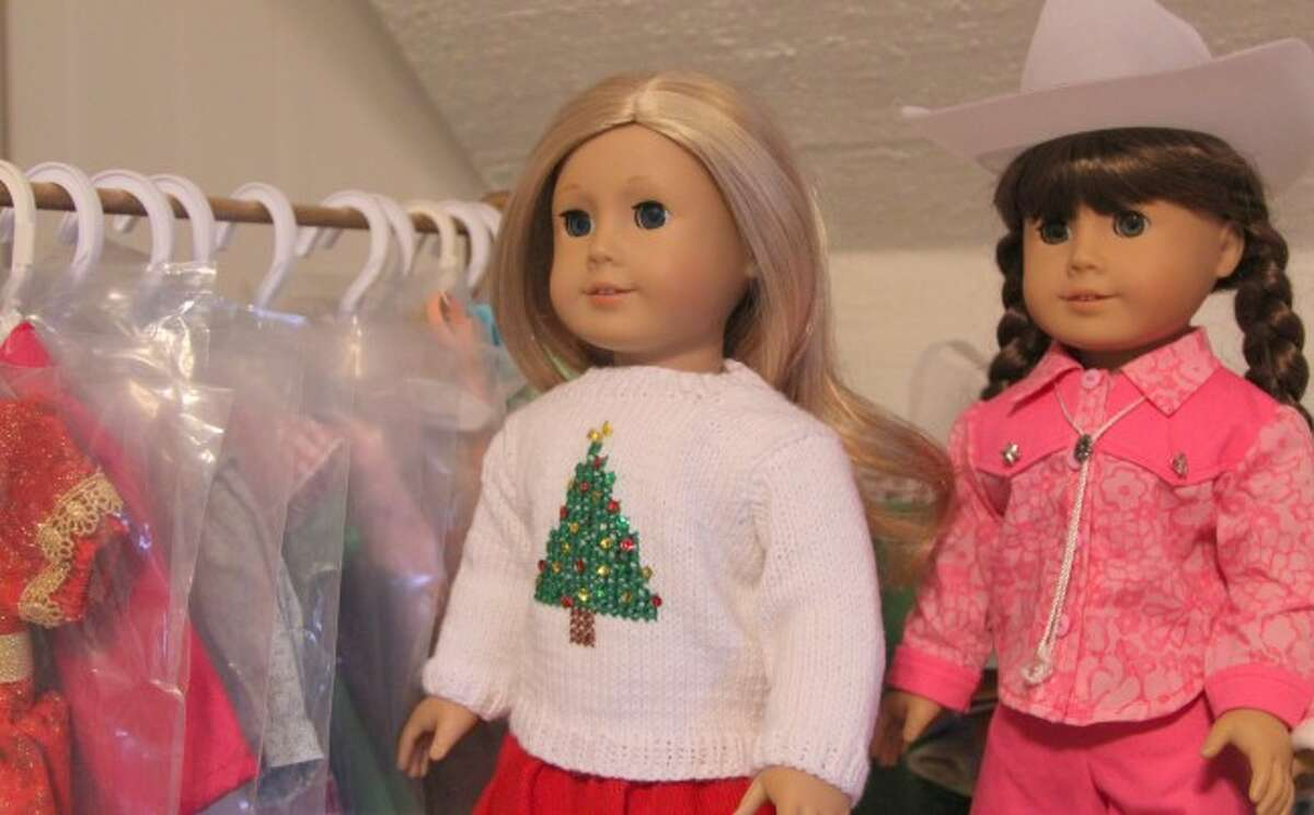 DRESSING DOLLS: Knapp has created a number of outfits for American Girl and Madame Alexander dolls. She has made cheerleading outfits, school uniforms, pajamas, dresses, sweaters and more, including her own personal touches.