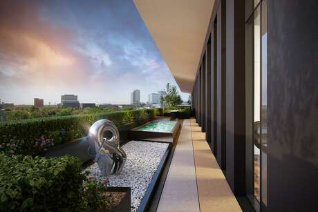 An artist rendering of Giorgetti Houston, a luxury mid-rise that is a collaboration with Giorgetti, the 118-year-old Italian furniture maker, Mirador Group architecture and interior design, Sudhoff Companies real estate consulting and marketing firm, and Stolz Partners, a real estate development company.