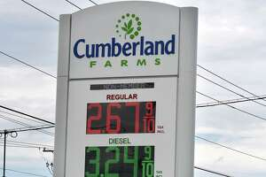 Gas prices are posted at a Cumberland Farms store on Monday, Aug. 19, 2019, on Troy Schenectady Road in Colonie, N.Y. (Will Waldron/Times Union)
