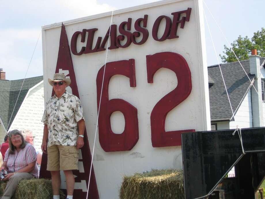 PARADE: The Marion High School class of '62 celebrates with a parade in the Marion Days parade. (Herald Review photos/Randy Johnston)