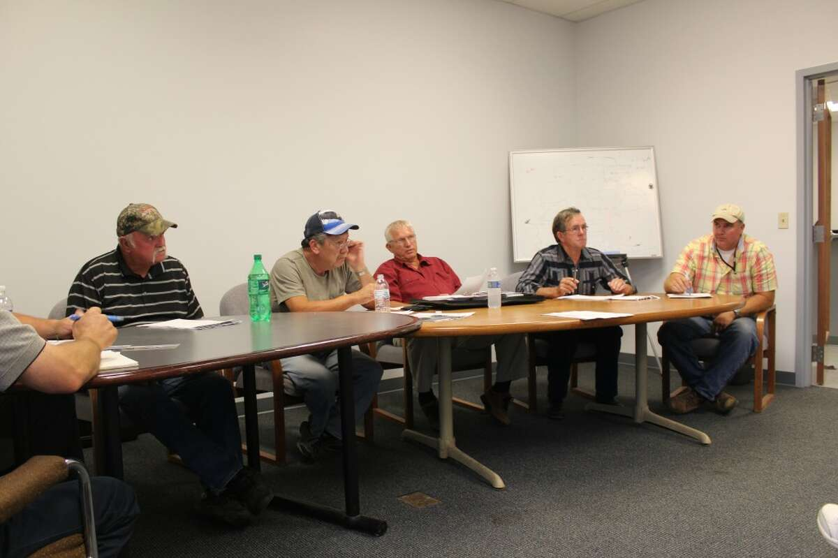 COMMISSION MEETING: The Osceola County Road Commission voted 4-1 to extend employment of managing engineer Cliff Youngs for two more weeks, after his pre-trial conference set for Thursday was rescheduled. (Pioneer photos/Sarah Neubecker)