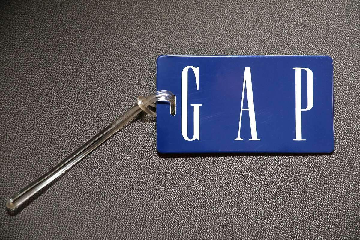 The blue Gap label which was created in 1988 seen seen at the Heritage Lab on Wednesday, July 31, 2019 in San Francisco, Calif.