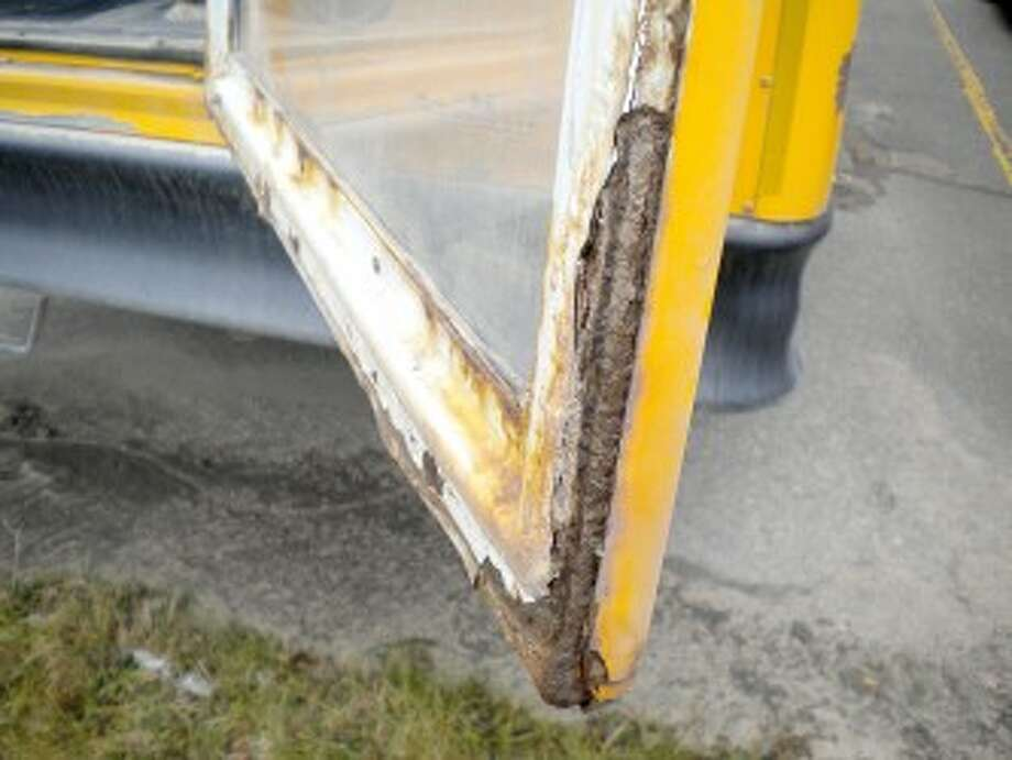 BUSES NEEDED: Reed City Area Public Schools needs to replace rusted buses. On Monday, the board approved leasing six buses for next school year. (Courtesy photo)