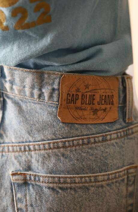 View of the label on a pair of Gap remade 1969 blue jeans displayed at the Heritage Lab on Wednesday, July 31, 2019 in San Francisco, Calif. Photo: Liz Hafalia, The Chronicle