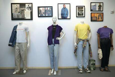 Left to right--The remade khaki and 90's denim jacket, fleece vest, 1984 pocket t-shirt, and 1969 jeans seen at the Heritage Lab on Wednesday, July 31, 2019 in San Francisco, Calif. Photo: Liz Hafalia / The Chronicle