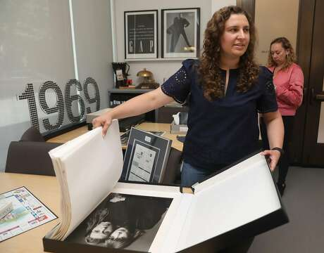 Archivist Erin Grady shows digital files at the Heritage Lab on Wednesday, July 31, 2019 in San Francisco, Calif. Photo: Liz Hafalia / The Chronicle