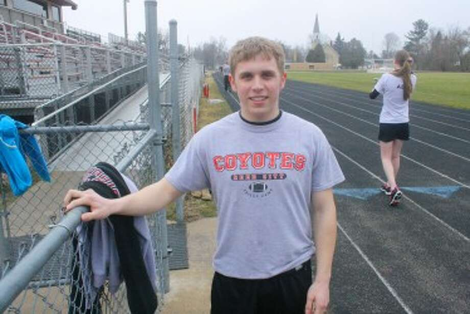 TRACK: Collin Hatfield will be in several events for Reed City's track team. (Herald Review/John Raffel)