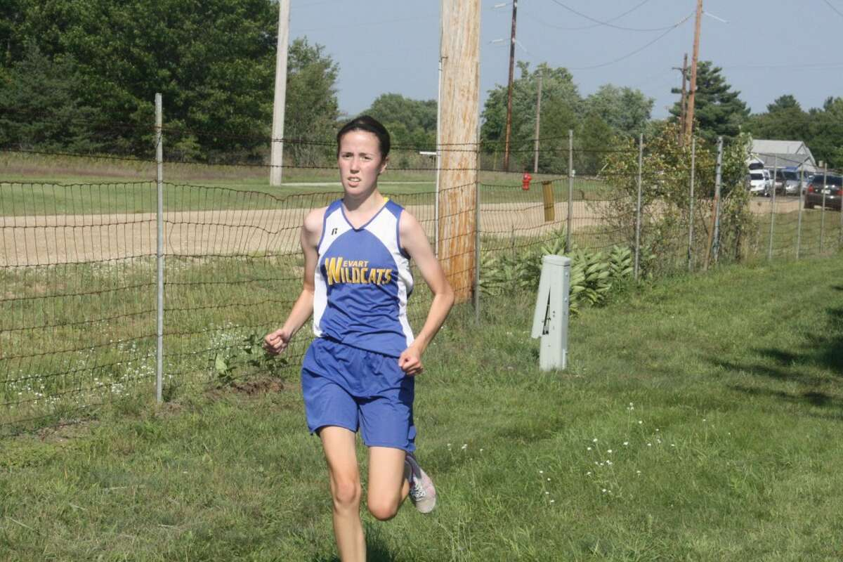 IN STRIDE: Grace Hamilton of Evart works on her pace.