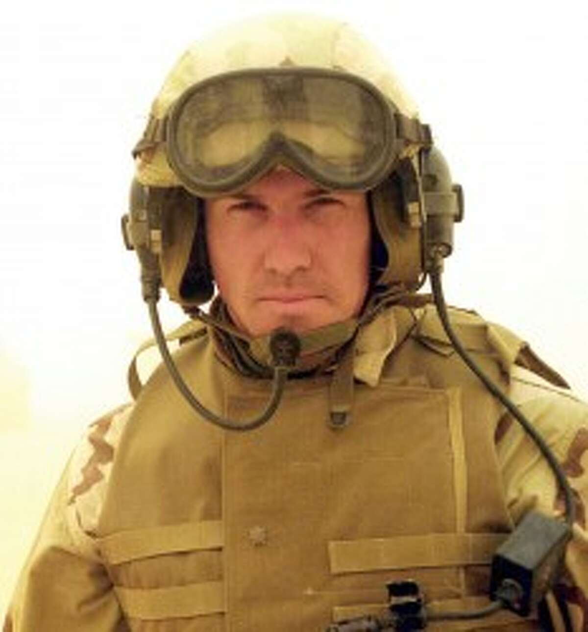 ON THE FIELD: Busch spent two tours of combat in Iraq as a U.S. Marine Corps Infantry Officer.