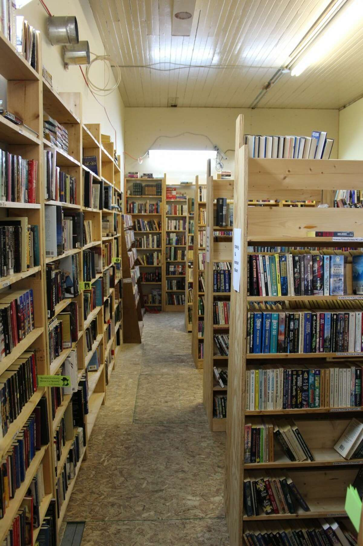 BOOKS GALORE: Split between three rooms and many shelves, Northon's Shire Bookshop offers new and used books. The store's best sellers were each book in the Harry Potter series.