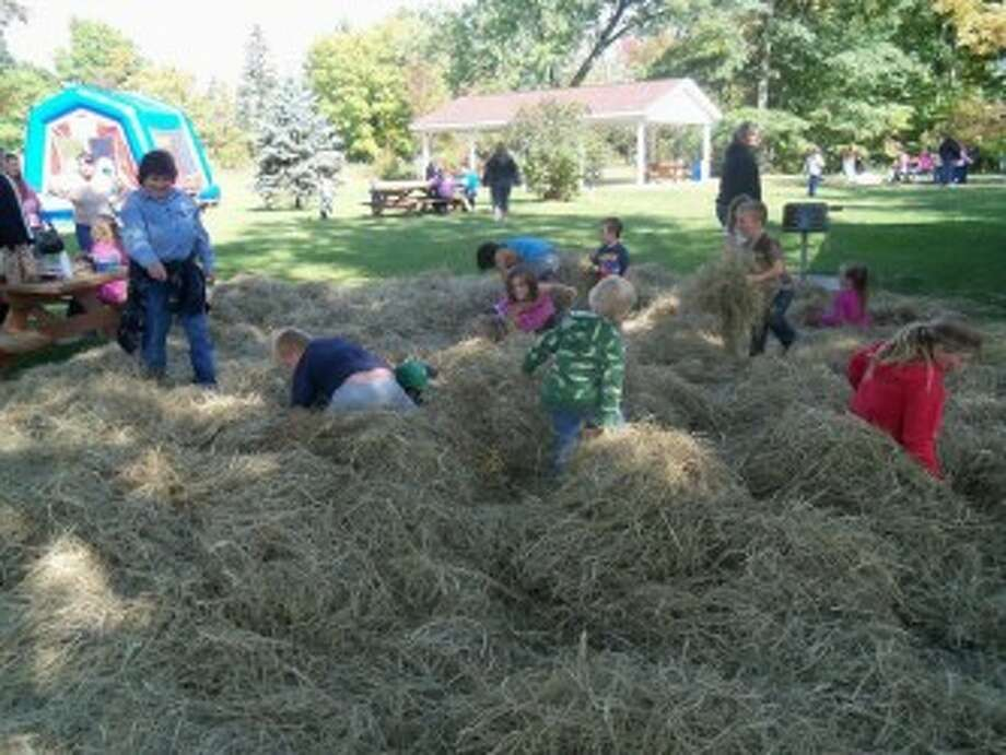 FALL FUN: The third annual Hersey Harvest Food Drive Festival will be held from 10 a.m. to 3 p.m. on Sept. 29 at Mosaic Park in Hersey and will include a hay treasure dig, inviting children to dig in a pile of hay for prizes. (Courtesy photo)