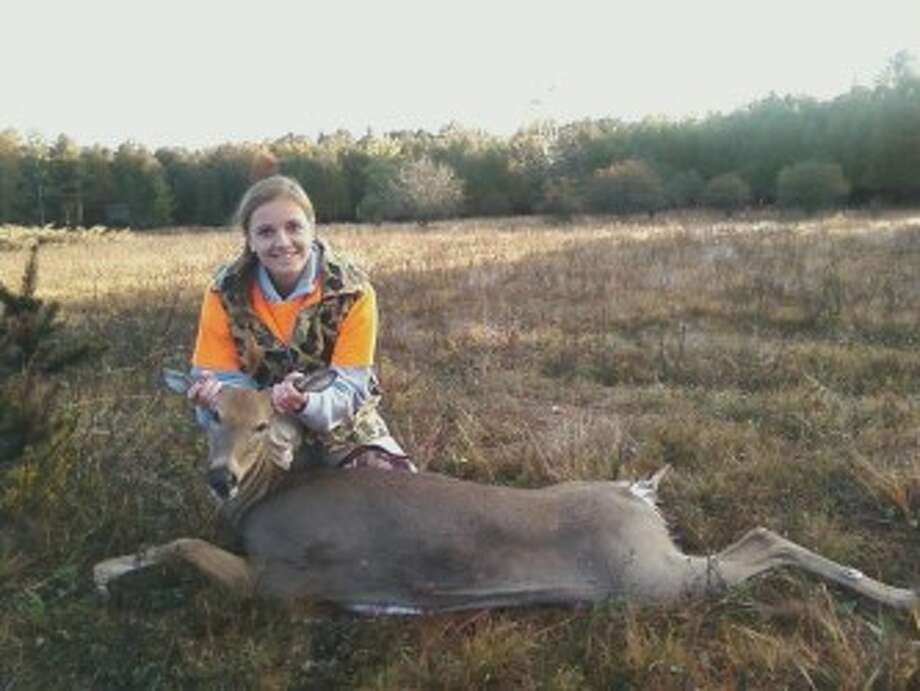 SUCCESS: Sarah Emington of Reed City was a successful youth hunter last weekend. (Courtesy photos)