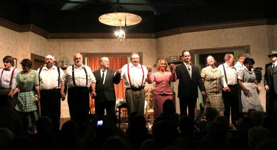 """LOCAL TALENT: The Crossroads Theatre Guild's cast of """"You Can't Take it With You"""" take a bow at the end of the performance on Saturday. The guild hosted six performances in the past two weeks, with a variety of local talent."""