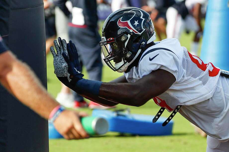 PHOTOS: Texans vs. Chargers Houston Texans defensive end Charles Omenihu runs a drill during a joint training camp practice with the Detroit Lions at the Houston Methodist Training Center on Wednesday, Aug. 14, 2019,in Houston. Photo: Brett Coomer, Houston Chronicle / Staff Photographer / © 2019 Houston Chronicle