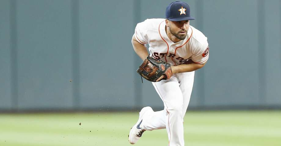 PHOTOS: Astros game-by-game Houston Astros short stop Jack Mayfield (9) gets Baltimore Orioles shortstop Hanser Alberto (57) out at first in the first inning at Minute Maid Park in Houston on Saturday, June 8, 2019. Astros lead the three-game series 1-0. Browse through the photos to see how the Astros have fared in each game this season. Photo: Elizabeth Conley/Staff Photographer