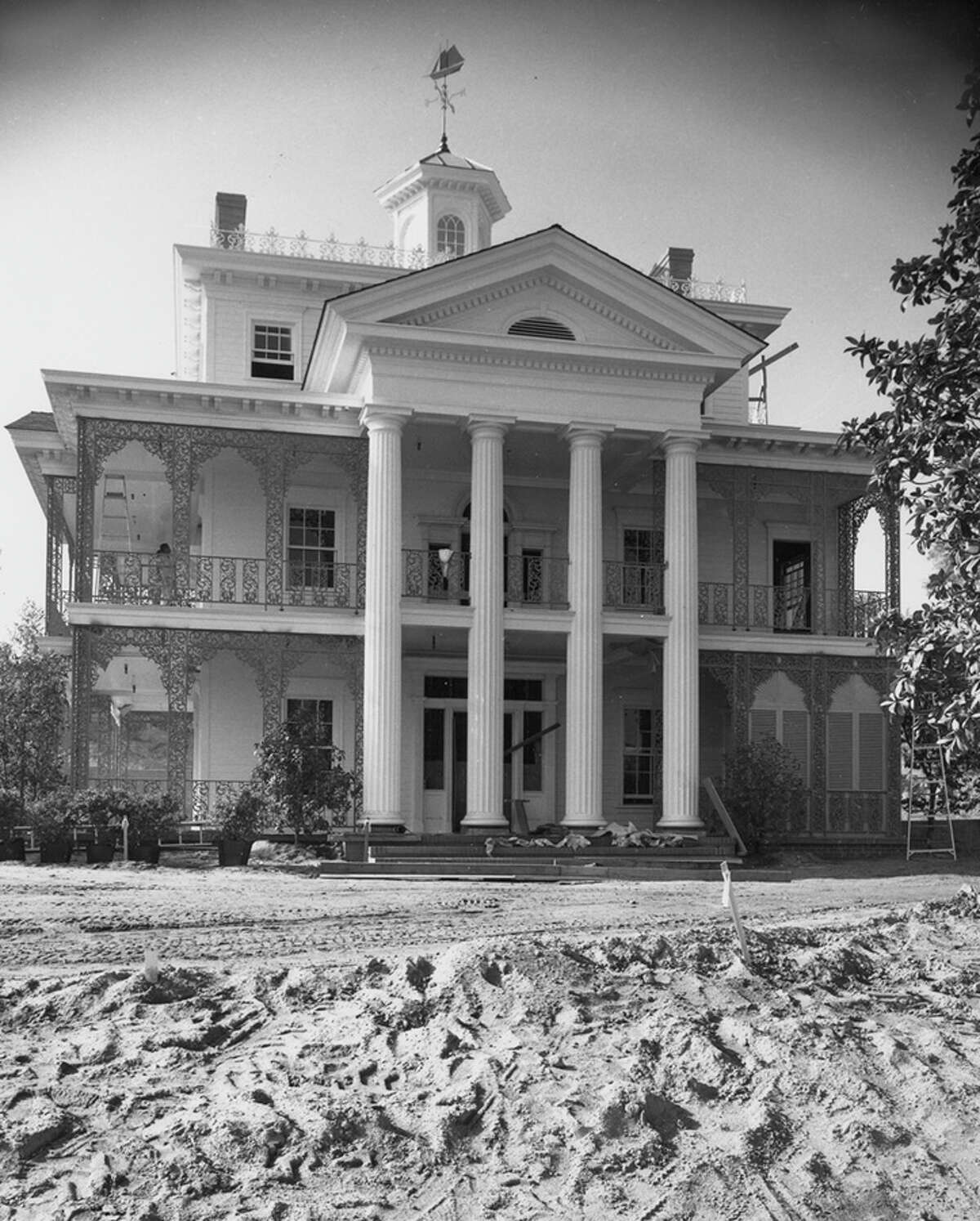 The Haunted Mansion at Disneyland Park in Anaheim, Calif., pictured under construction in 1962, celebrates 50 years Aug. 9, 2019. Construction for the Haunted Mansion attraction began in 1961 and the exterior of the attraction was completed in 1963. It was unoccupied until 1969 while Walt Disney participated in the 1964-65 New York World's Fair and his Imagineers were re-tasked to work on those timely projects.