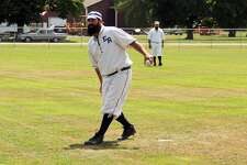 Players from the Richmond Bees and the Early Riser Base Ball Club faced off in a friendly game of base ball, a vintage variation on America's pastime, during ABC Day in Port Hope Saturday.