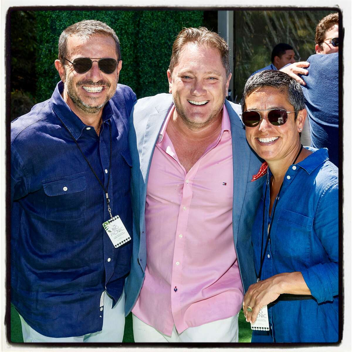 SAN FRANCISCO, CA - August 18 - Phil Ginsburg, Liam Mayclem and Emiliy Ginsburg attend Stern Grove Festival's The Big Picnic 2019 starring The Isley Brothers on August 18th 2019 at Sigmund Stern Grove in San Francisco, CA (Photo - Devlin Shand for Drew Altizer Photography)