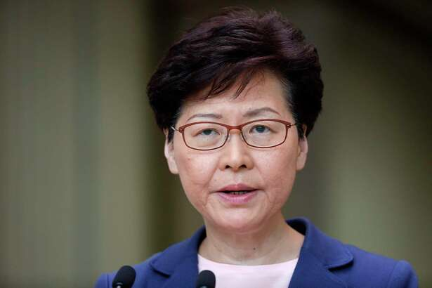 Carrie Lam, Hong Kong's chief executive.