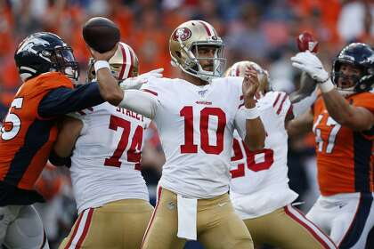 1377a5df Hysteria drills: 49ers quarterback Jimmy Garoppolo sizzling in hot ...