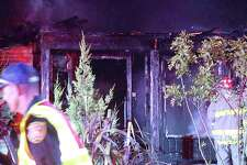 A Southwest Side home was destroyed after a fire burst the roof into flames Monday evening, San Antonio fire officials said.