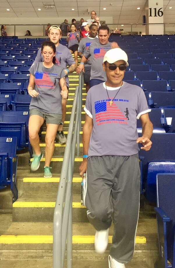 Registration is now open for the 5th Annual Step Up For The Brave Stair Climb Challenge.  This unique event, hosted by Homes for the Brave, takes place Saturday, Sept. 14, 2019 at Webster Bank Arena.  www.HomesForTheBrave.org Photo: Homes For The Brave / Contributed