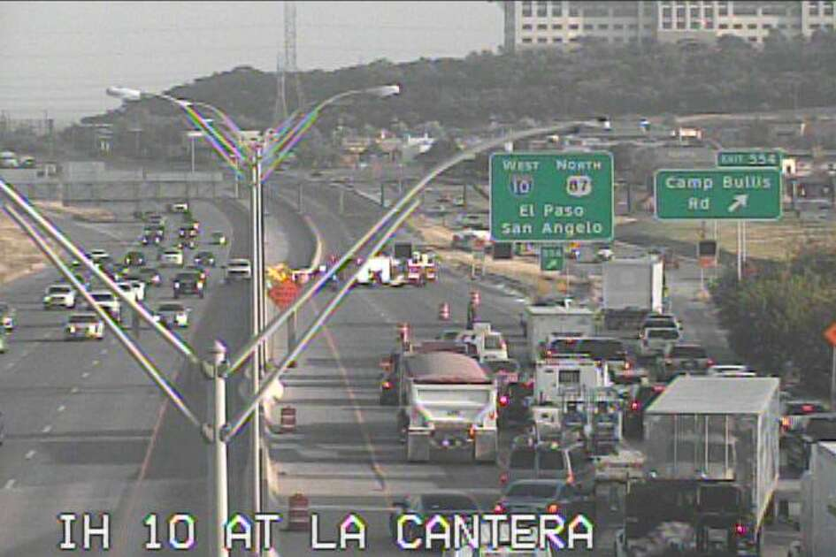 An 18-wheeler rollover shut down northbound 1-10 at La Cantera this morning, according to San Antonio police.