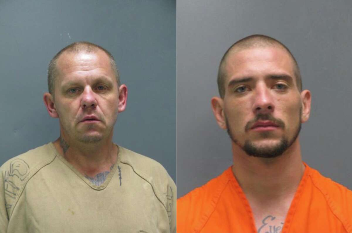 Clay Sterling Harvey, 44, left, andChance Marshall Hunt, 28, escaped from the Liberty County Jail on Tuesday, Aug. 20, 2019.Anyone who spots the suspects is urged to not approach them and instead call 911 or the Multi-County Crime Stoppers at 1-800-392-STOP (7867).