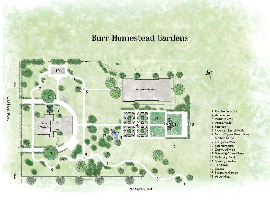 The Board of Selectmen approved a master plan for renovations to Burr Homestead Gardens. Photo: Contributed Photo