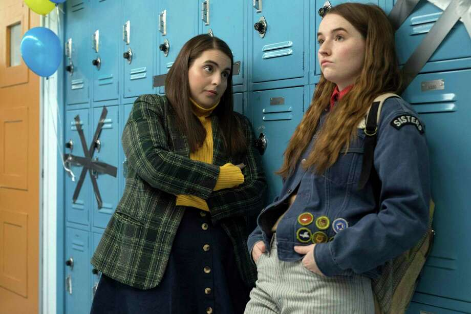 "Beanie Feldstein (left) and Kaitlyn Dever aced their classes but failed at partying in ""Booksmart."" Photo: Sony / © 2019 ANNAPURNA PICTURES, LLC. All Rights Reserved"