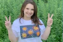 Madison VanDenburg helps Albany teen raising funds to help girl graduate.