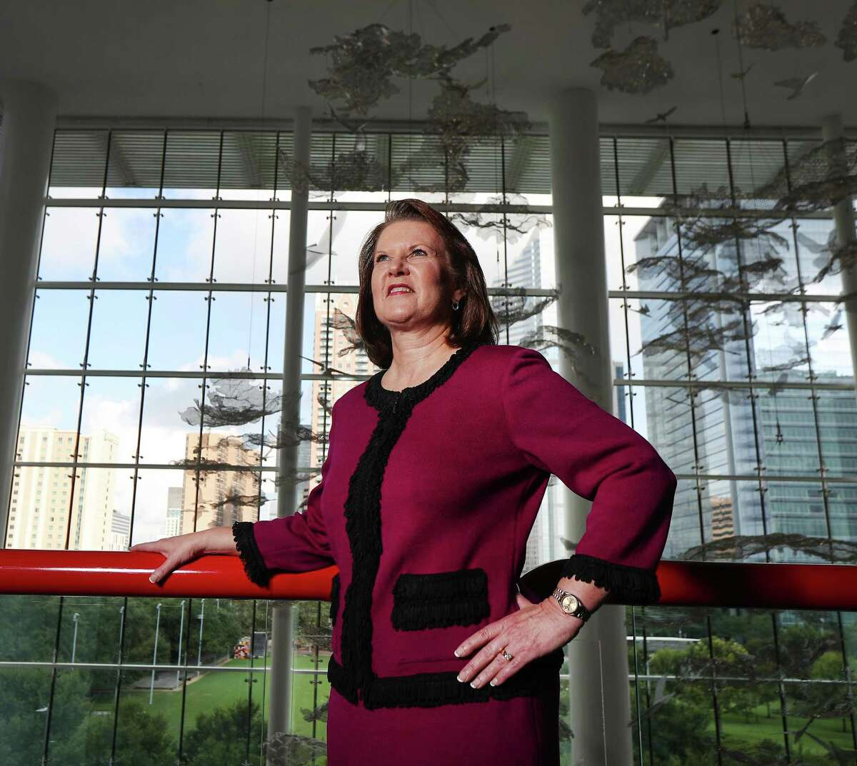 Houston First Corporation President and CEO, Brenda Bazan poses for a portrait in the George R. Brown Convention Center Friday, Aug. 16, 2019, in Houston.