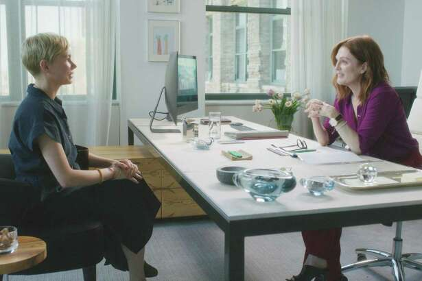 "Michelle Williams and Julianne Moore star in ""After the Wedding."""
