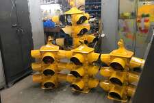 Restored vintage traffic stoplights ready to be installed in Erie, Pa.
