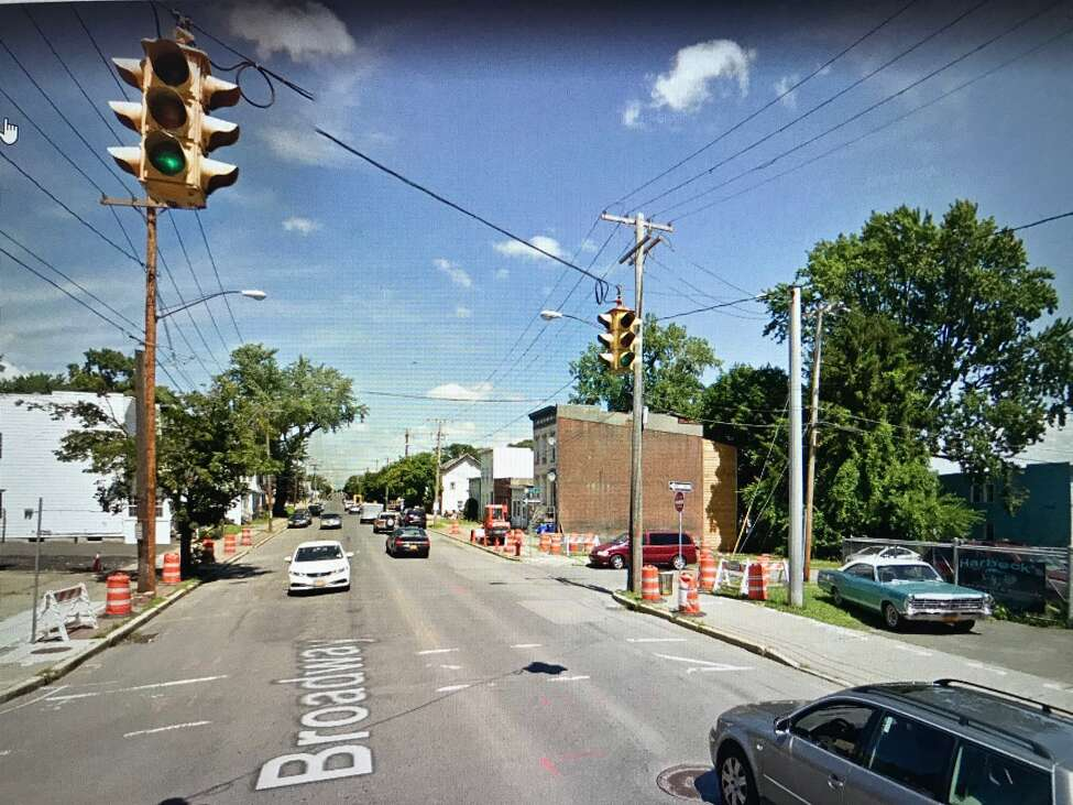Vintage Crouse-Hinds traffic lights from the 1950s were removed a year ago from the intersection of Broadway and North Second Street in Albany.