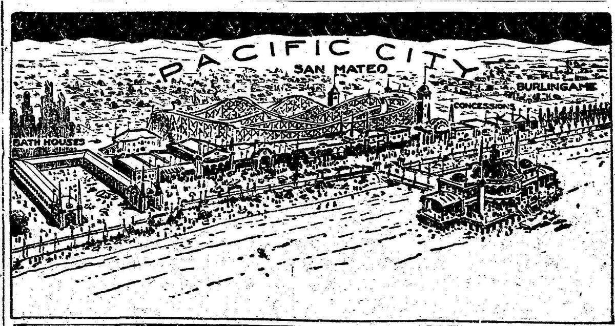 Chronicle February 19 1922 article on the proposed opening of the Pacific City amusement park and beach at Coyote Point