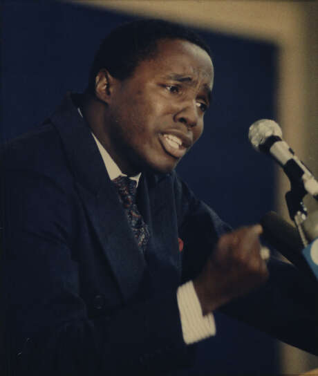 Darrell Gilyard preaches at a church near Dallas in July 1991 days after he resigned from a different church over sexual misconduct allegations. (Associated Press)
