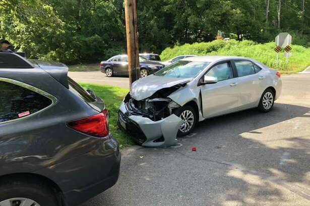 There was a two-car collision at the Route 110-Wheelers Farm Road intersection the afternoon of Aug. 20, 2019. There were no serious injuries reported.