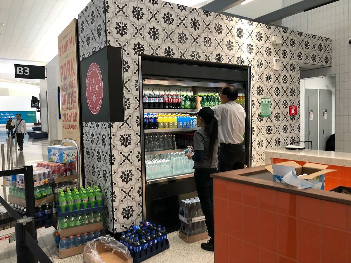 Shops at SFO are barred from selling plastic water bottles, as of Tuesday, Aug. 20, 2019.