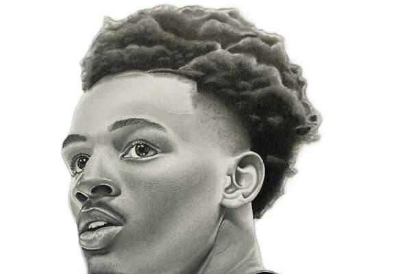 Local artist Isaac Garcia recently drew portraits of several Spurs players.