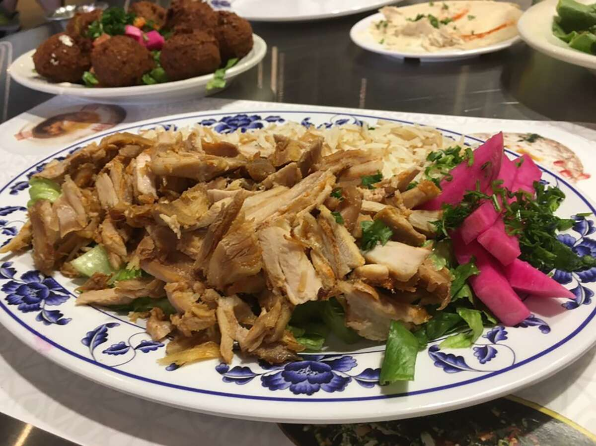 The chicken shawarma at Al-Amir Cafe and Grill.