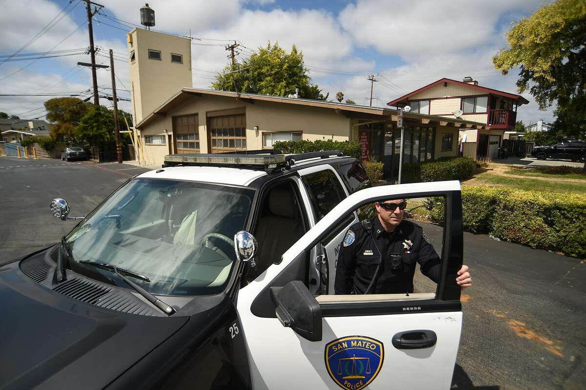 Capt.DavePeruzzaro of the San Mateo Police Department visits the site of a future barracks on South Norfolk Street in San Mateo on Tuesday August 20, 2019.