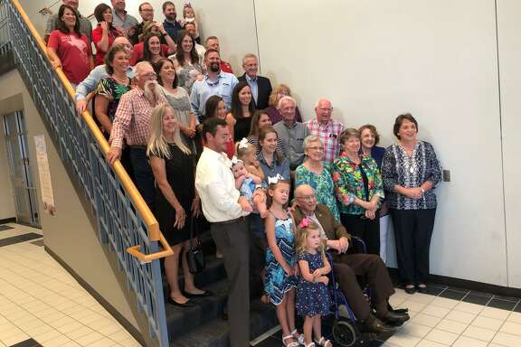 Members of theJordan family attend a Katy ISD board meeting where their family was honored as the namesake for the district's newest high school.